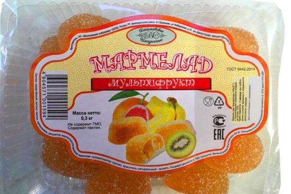 Мармелад со вкусом мультифрукт