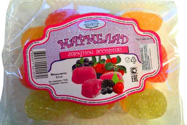 Мармелад со вкусом ягодное ассорти